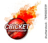cricket championship  playing... | Shutterstock .eps vector #789000559