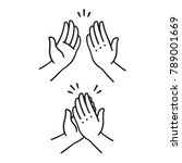 sep of two hands clapping in... | Shutterstock .eps vector #789001669