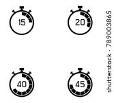 stopwatch icon set | Shutterstock .eps vector #789003865