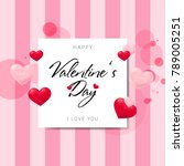 postcards happy valentine's day | Shutterstock .eps vector #789005251