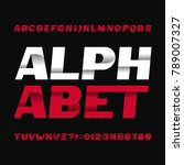 abstract alphabet typeface.... | Shutterstock .eps vector #789007327