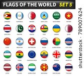 all flags of the world set 5 .... | Shutterstock .eps vector #789007624