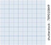 blank graph sheet with blue... | Shutterstock .eps vector #789010849