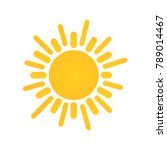sunny weather sign icon. yellow ... | Shutterstock . vector #789014467