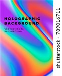 vector holographic background... | Shutterstock .eps vector #789016711