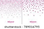 set of valentines day card... | Shutterstock .eps vector #789016795