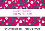happy chinese 2018 new year... | Shutterstock .eps vector #789017905