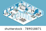 isometric flat 3d abstract... | Shutterstock .eps vector #789018871