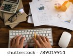 top view process close up... | Shutterstock . vector #789019951