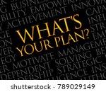 what's your plan word cloud ... | Shutterstock . vector #789029149