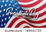 presidents day. banner for usa... | Shutterstock .eps vector #789031735