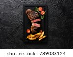meat picanha steak  traditional ... | Shutterstock . vector #789033124