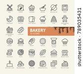 bakery shop elements   minimal... | Shutterstock .eps vector #789035431