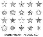 linear stars set. bethlehem and ... | Shutterstock . vector #789037567