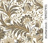floral seamless pattern.... | Shutterstock .eps vector #789037951