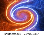 swirling fire and ice plasma...   Shutterstock . vector #789038314