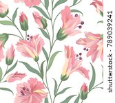 floral seamless pattern. nature ... | Shutterstock .eps vector #789039241