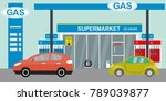 gas station supermarket and... | Shutterstock .eps vector #789039877
