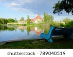 blue bench in a natural park of ... | Shutterstock . vector #789040519