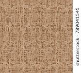 burlap texture.  brown fabric.... | Shutterstock .eps vector #789041545