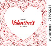 valentines day card design.... | Shutterstock .eps vector #789042259