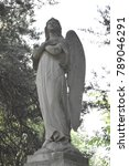 vintage sad angel on a cemetery ... | Shutterstock . vector #789046291