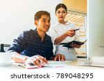 business meeting concept  the... | Shutterstock . vector #789048295