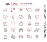 st. valentine's day icons | Shutterstock .eps vector #789052021