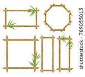 bamboo frame set. wooden frame... | Shutterstock . vector #789055015