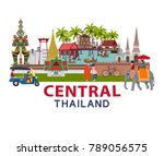 thailand travel with central... | Shutterstock .eps vector #789056575