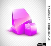abstract glass speech bubble ...   Shutterstock .eps vector #78905911