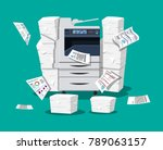 office multifunction machine.... | Shutterstock . vector #789063157