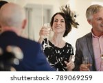 bride's parents are toasting to ... | Shutterstock . vector #789069259