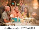 senior man is shocked after... | Shutterstock . vector #789069301