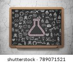 science concept  chalk pink... | Shutterstock . vector #789071521
