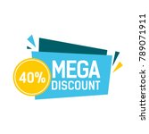 discount forty percent blue... | Shutterstock .eps vector #789071911