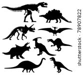 dinosaur silhouette prehistoric ... | Shutterstock . vector #78907822