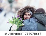 picture showing young couple... | Shutterstock . vector #789078667