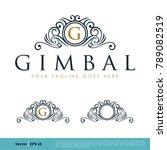 crest heraldry ornamental frame ... | Shutterstock .eps vector #789082519