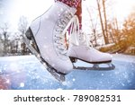 close up of woman ice skating... | Shutterstock . vector #789082531