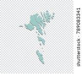 faroe island map   high... | Shutterstock .eps vector #789083341