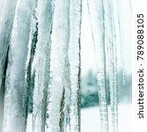 abstract snowy winter scene... | Shutterstock . vector #789088105