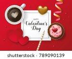 valentines day banner design... | Shutterstock .eps vector #789090139