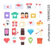 valentine s day flat design...   Shutterstock .eps vector #789090235