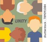 unity illustration vector | Shutterstock .eps vector #789091084