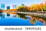 autumn scenery and modern... | Shutterstock . vector #789093181