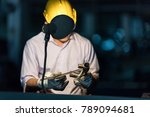 selective focus at pipe... | Shutterstock . vector #789094681