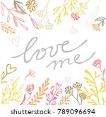 hand drawn doodle banner  ... | Shutterstock .eps vector #789096694