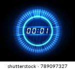 futuristic countdown clock.... | Shutterstock .eps vector #789097327