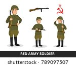 a man in the military uniform... | Shutterstock .eps vector #789097507